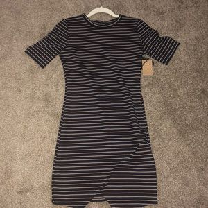 Fitted Stripped Short Dress
